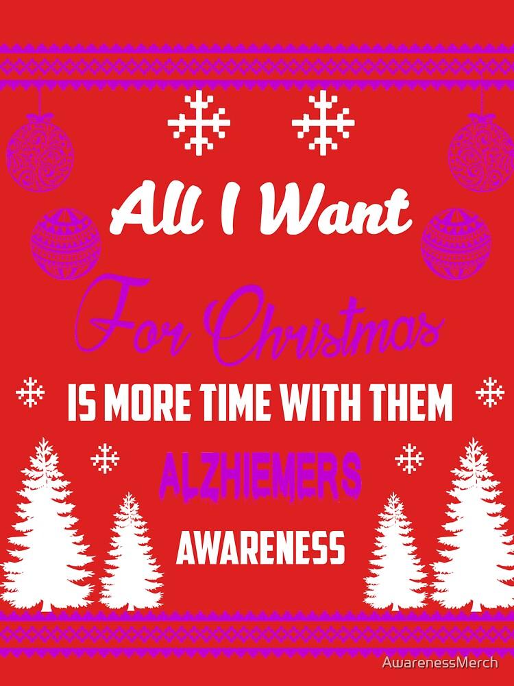 Support Alzheimer's Awareness Design by AwarenessMerch