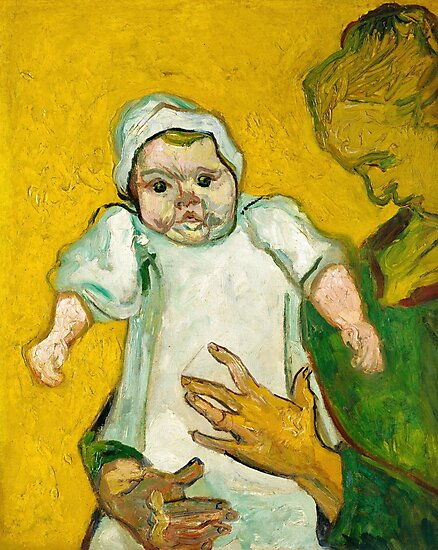 Madame Roulin and Her Baby, Vincent Van Gogh by fineearth