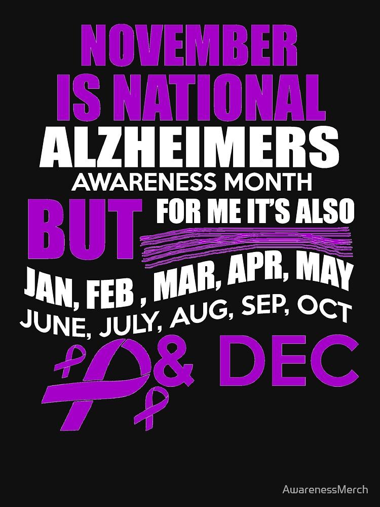 Support Alzheimer's Awareness Month Design by AwarenessMerch