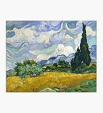 Van Gogh, Wheat Field with Cypresses, 1889  Photographic Print