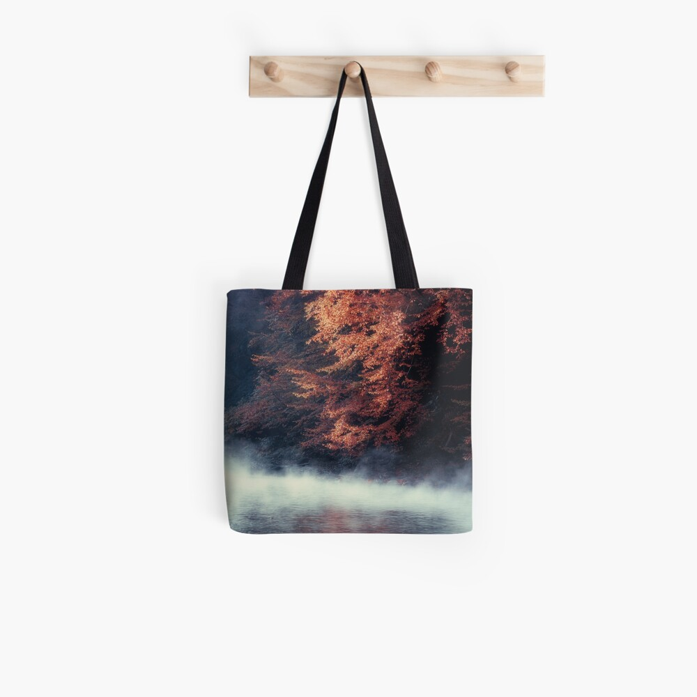 Nature*s Mirror - Fall at the River Tote Bag