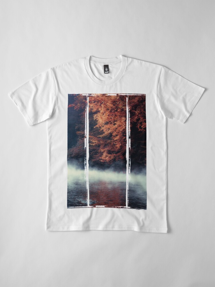 Alternate view of Nature*s Mirror - Fall at the River Premium T-Shirt