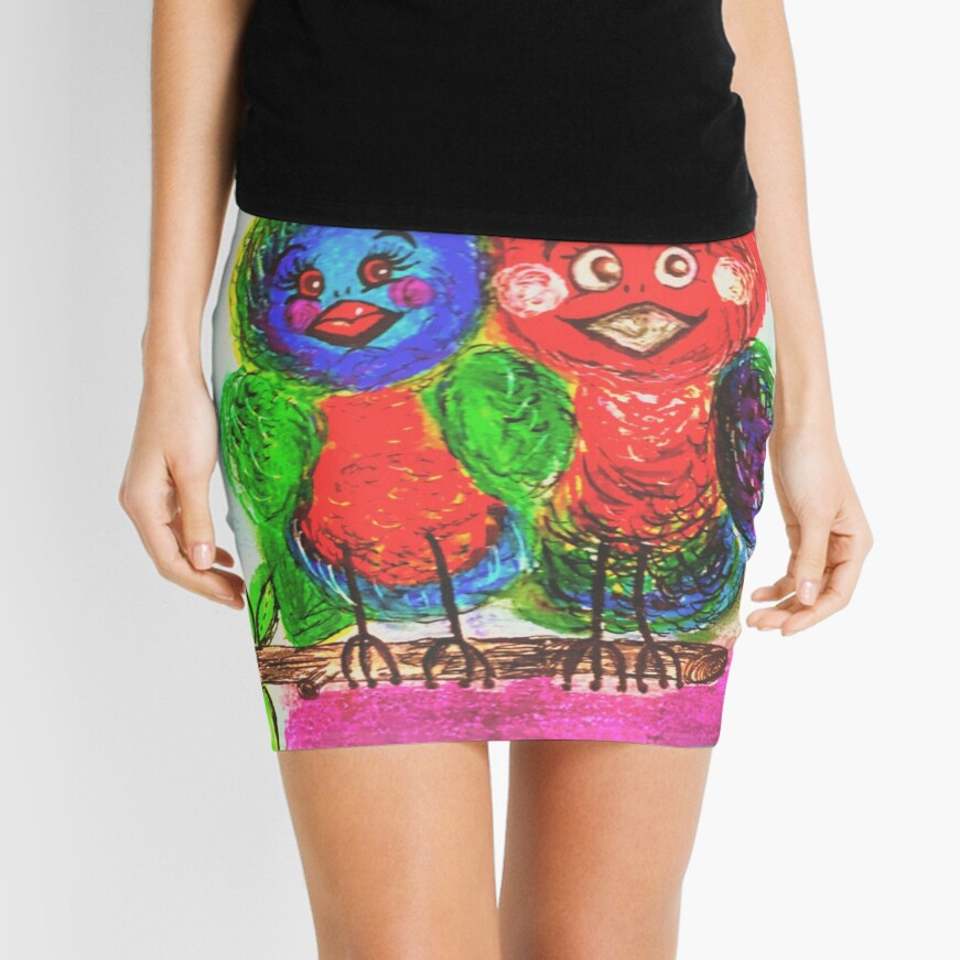 A Birds Best Friend Mini Skirt Front