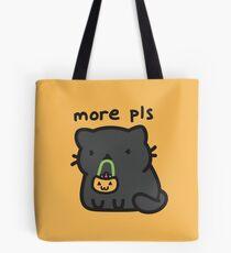 Peppercorn needs more treats!  Trick or treating bag, tote, shirt, design Tote Bag