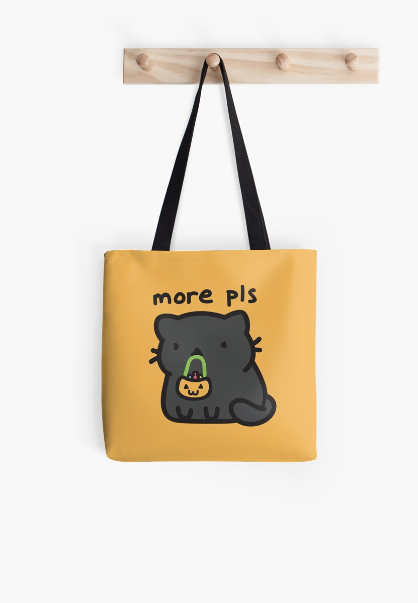 Peppercorn needs more treats!  Trick or treating bag, tote, shirt, design by BountifulBean