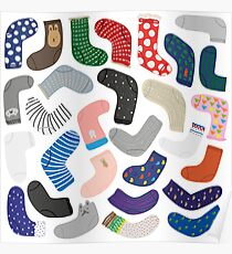 Socks collection Poster