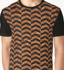 CHEVRON2 BLACK MARBLE & COPPER FOIL Graphic T-Shirt