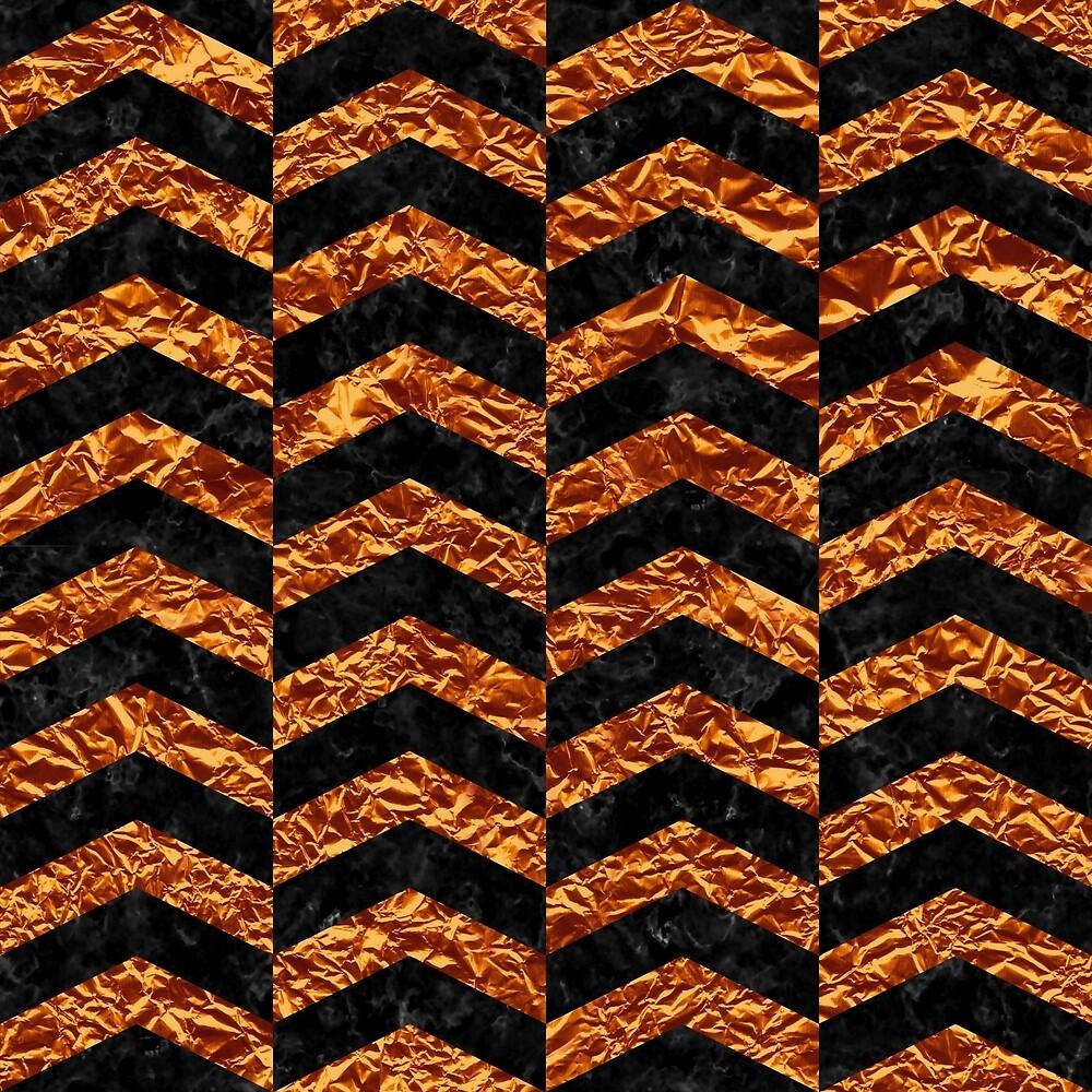 CHEVRON2 BLACK MARBLE & COPPER FOIL by johnhunternance