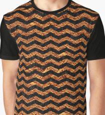 CHEVRON3 BLACK MARBLE & COPPER FOIL Graphic T-Shirt