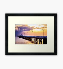 Pier in the Pink Framed Print