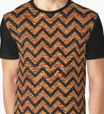 CHEVRON9 BLACK MARBLE & COPPER FOIL (R) Graphic T-Shirt