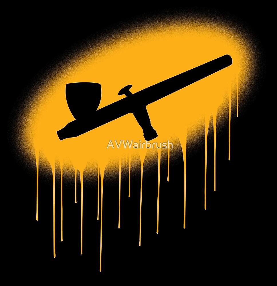 Aibrush overspray - Orange by AVWairbrush