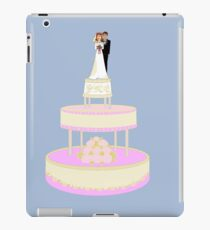 A Wedding Cake with Bride and Groom iPad Case/Skin