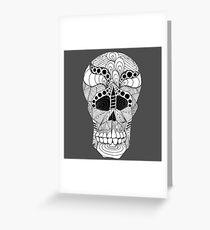 Australian Aboriginal Art - Skull X Ray Black White Greeting Card