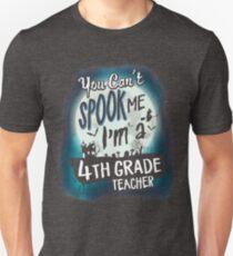 Halloween 4th Grade Teacher Costume Funny Sarcastic T-Shirt