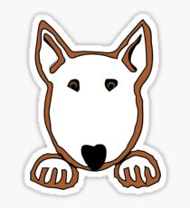 """Bully Paws""  - Bull Terrier Sticker"