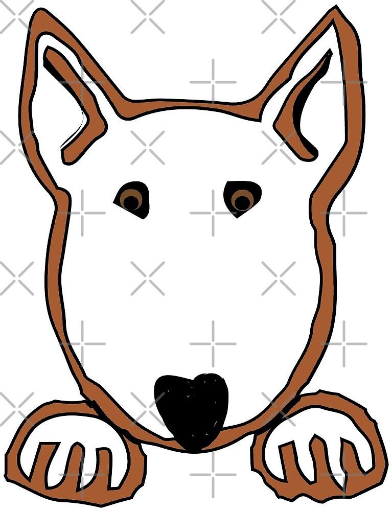 """Bully Paws""  - Bull Terrier by BulliesRule"
