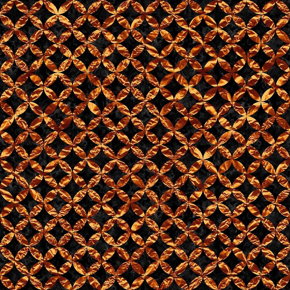 CIRCLES3 BLACK MARBLE & COPPER FOIL by johnhunternance