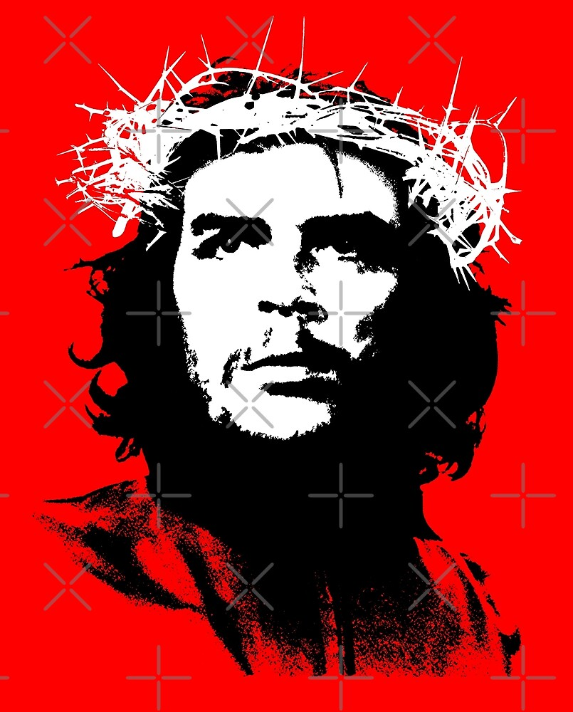 Che Guevara wearing a crown of thorns by monsterplanet