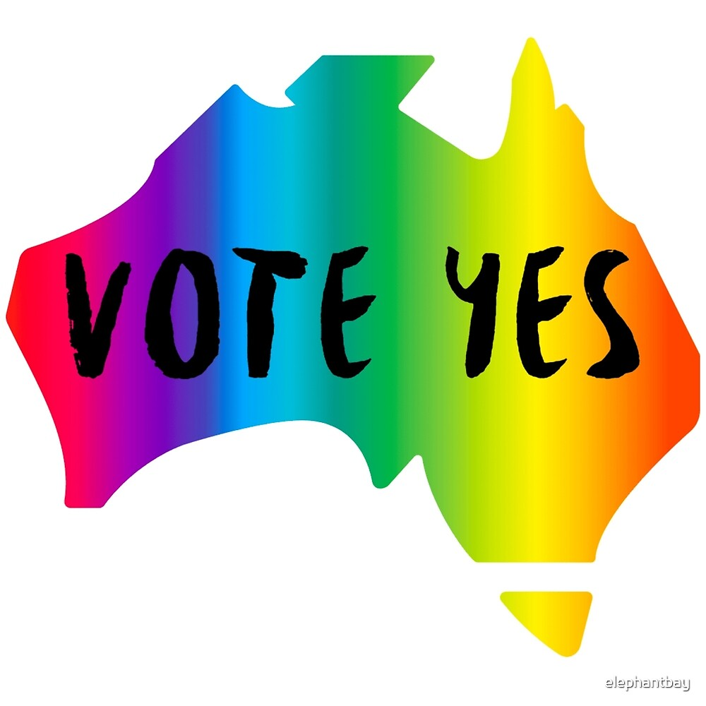 Vote Yes Marriage Equality Slogan by elephantbay