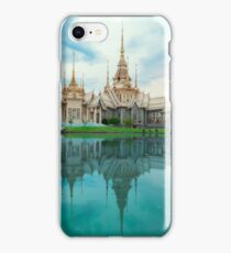 Thailand Buddhist Temple Surrounded By Turquoise Water iPhone Case/Skin