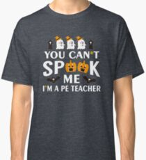 Halloween Funny PE Teacher Costume Scare Classic T-Shirt