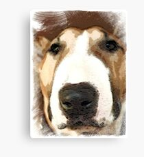 """""""Red Bull""""  - Bull Terrier Canvas Print"""