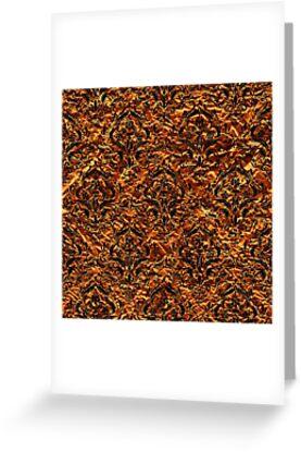 DAMASK1 BLACK MARBLE & COPPER FOIL (R) by johnhunternance