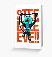 monkey cartoon Greeting Card