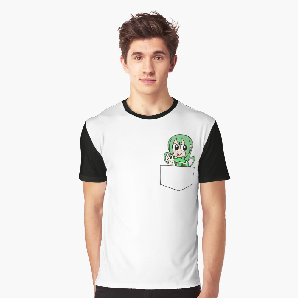 Froppy in your Pocket - Tsuyu Atsui My Hero Academia Graphic T-Shirt Front