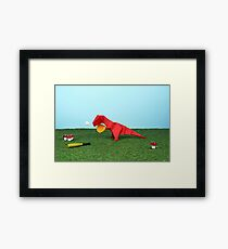 Yes T-Rex can! Framed Print