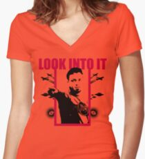Eddie Bravo: LOOK INTO IT Women's Fitted V-Neck T-Shirt