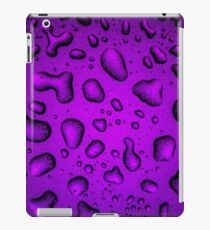 Cool Grainy Purple water drops iPad Case/Skin