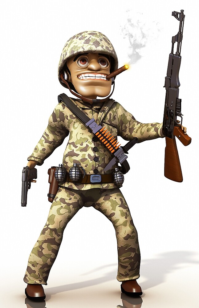 Cartoon Soldier by Marc  Mons