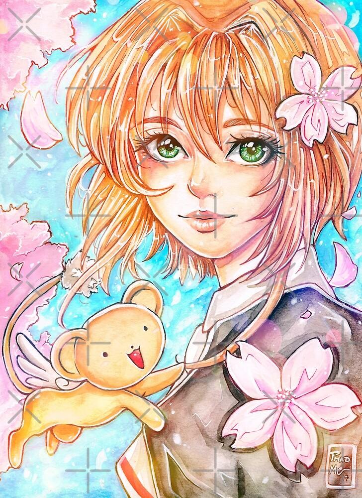 Sakura and Kero by phadmeart