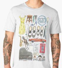 La La Land Illustration Jazz Saxophone Music Musical  Men's Premium T-Shirt