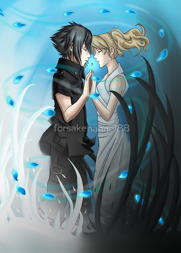 Noctis and Luna by forsakenangel88