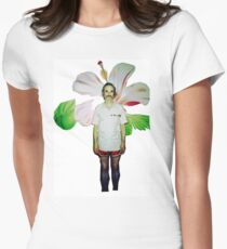 Holger Czukay of Can Women's Fitted T-Shirt