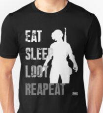 EAT SLEEP LOOT REAPEAT - PUBG T-Shirt