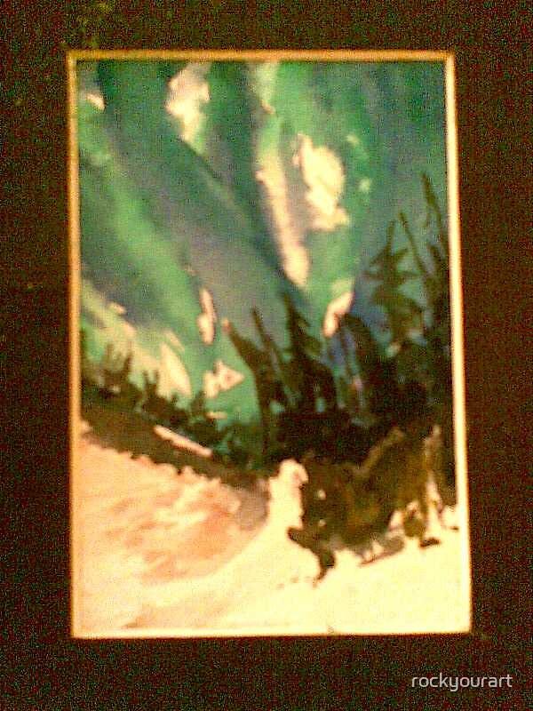 Green Aurora Borealis by rockyourart