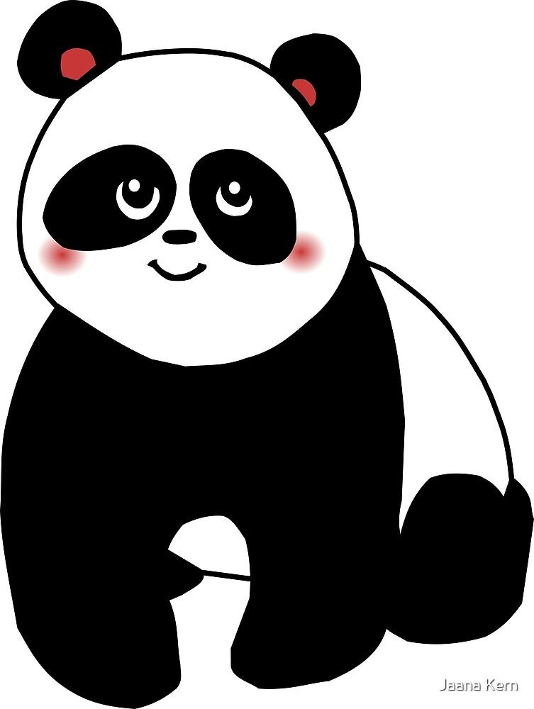 Cute kawaii panda vector by Jaana Kern