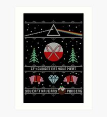 Hey Yule - Pink Christmas Art Print