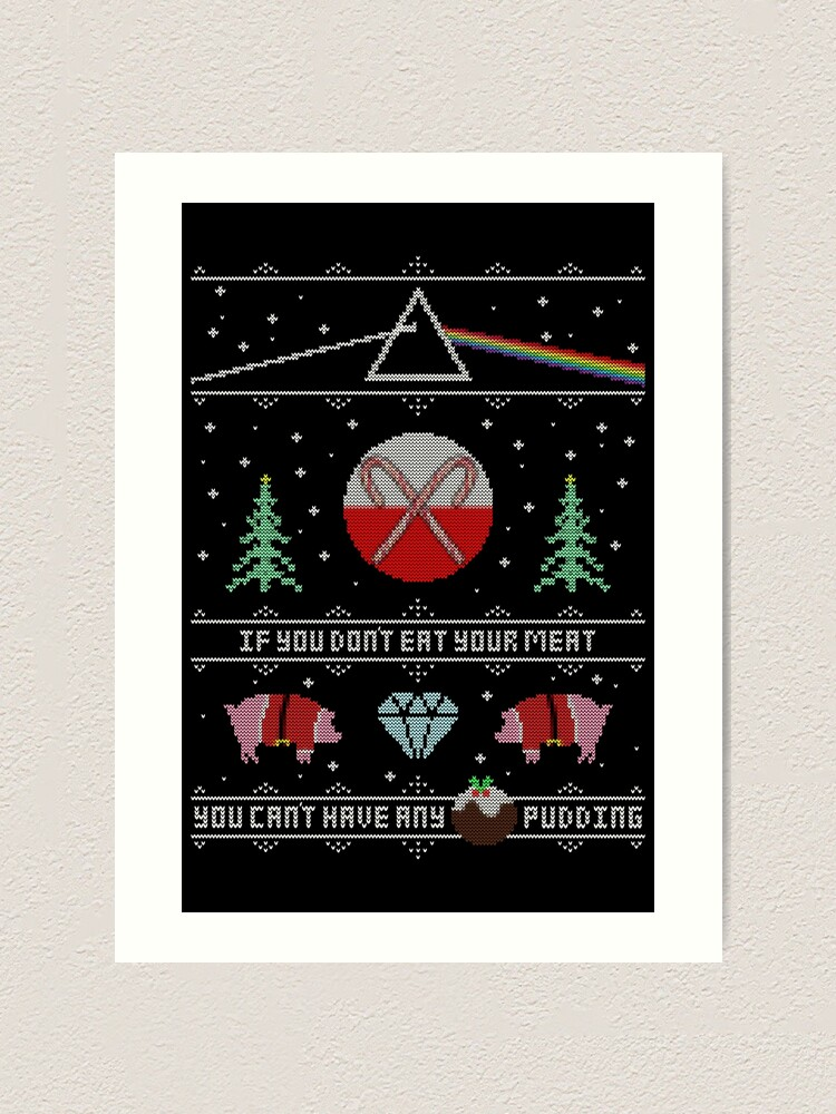 Alternate view of Hey Yule - Pink Christmas Art Print