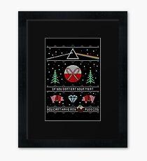 Hey Yule - Pink Christmas Framed Print