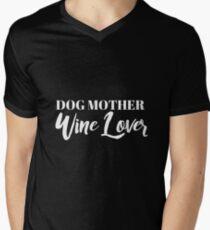 Dog Mother, Wine Lover Men's V-Neck T-Shirt
