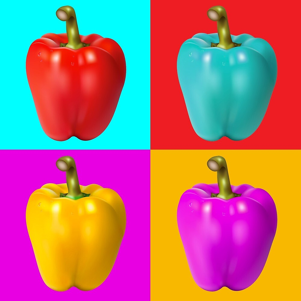 Colourful peppers  by Olixas