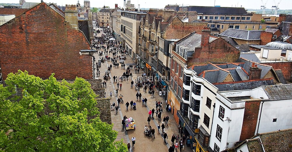 """ Birds eye view of Oxford"" by Malcolm Chant"