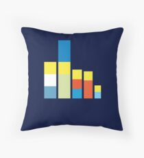 Simpsons on the Block Throw Pillow