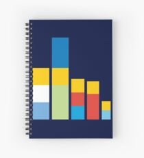 Simpsons on the Block Spiral Notebook