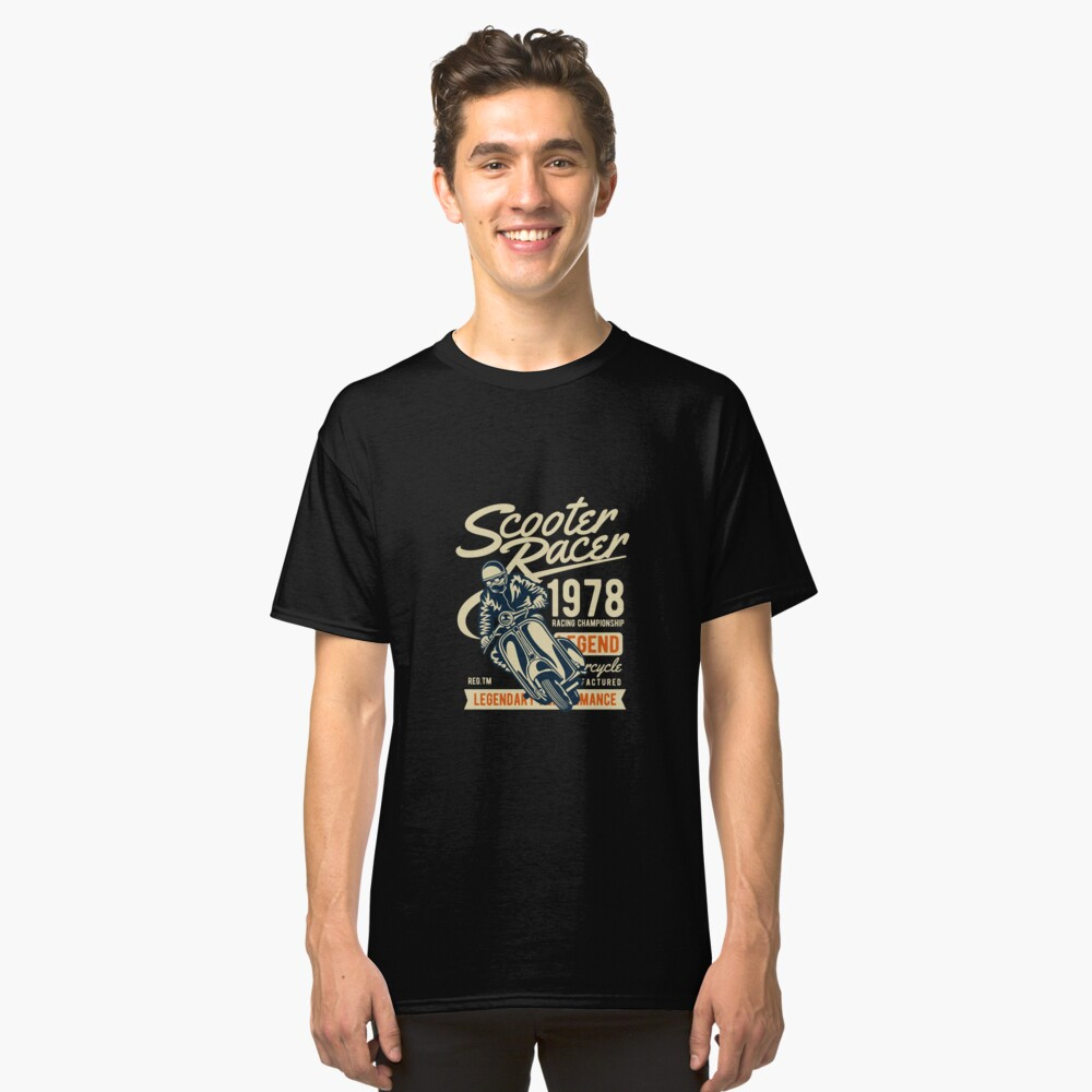 Scooter Racer 1978 Classic T-Shirt Front